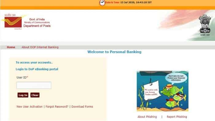 Post Office savings account; India post netbanking ebanking.indiapost.gov.in