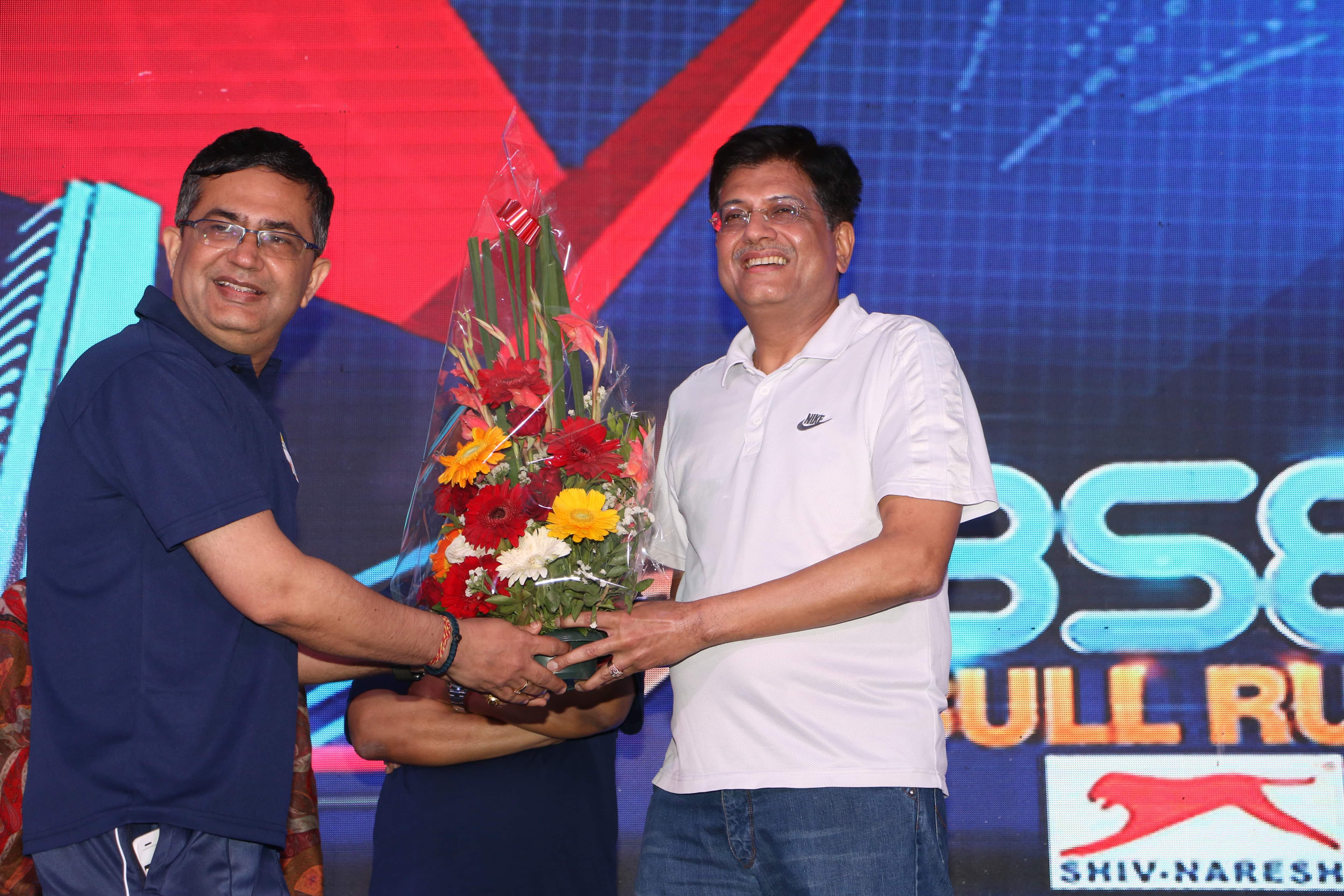 Union Minister, Piyush Goyal at BSE Bull Run 2017.
