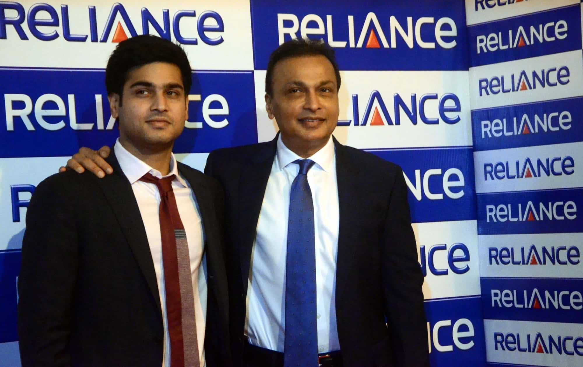 Anil Ambani with son Anmol