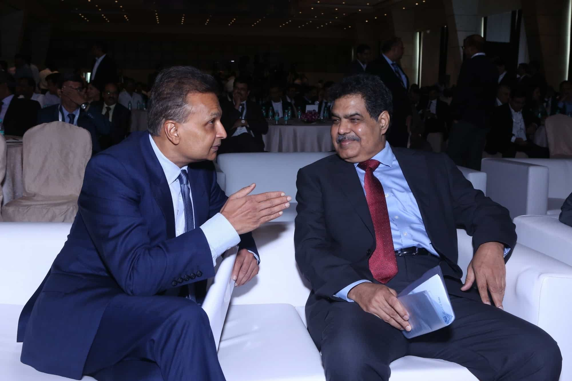 Ambani with SEBI Chairman Ajay Tyagi