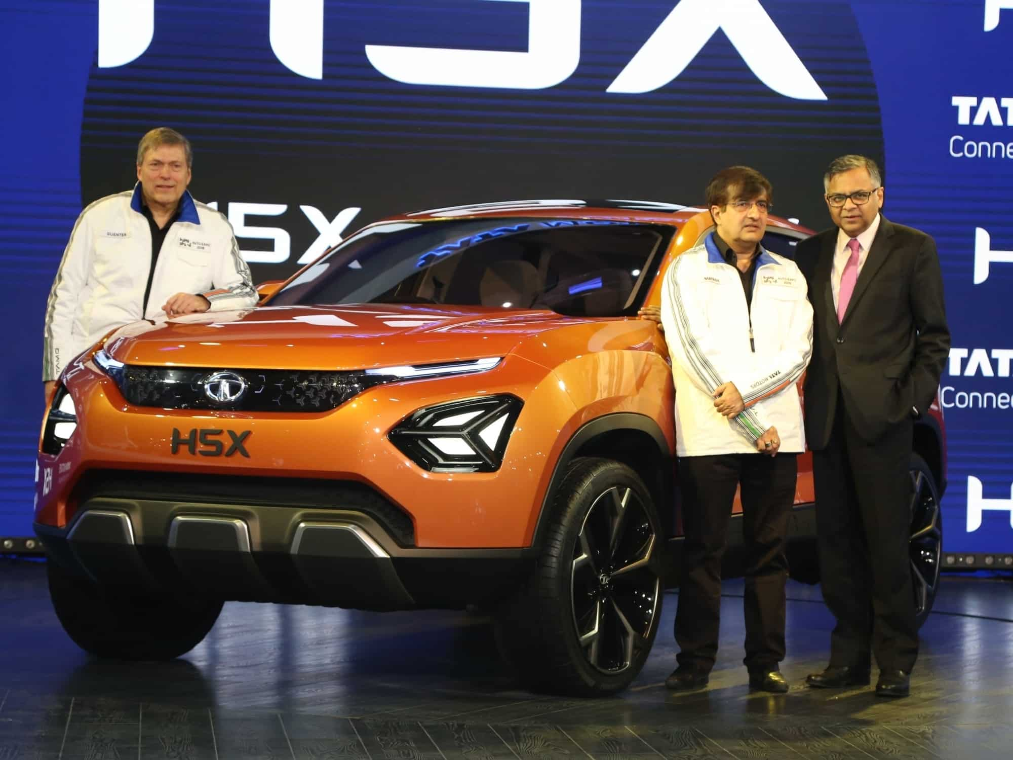A view of the Tata HSX at the Auto Expo 2018. Image Source: IANS