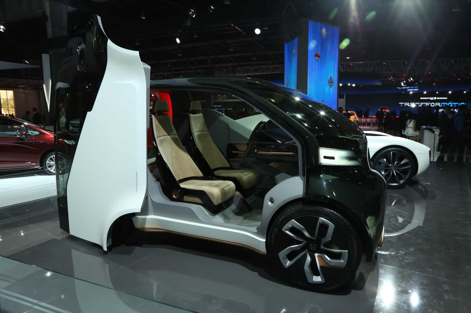 A electric concept car at the Auto Expo 2018 in New Delhi. IANS