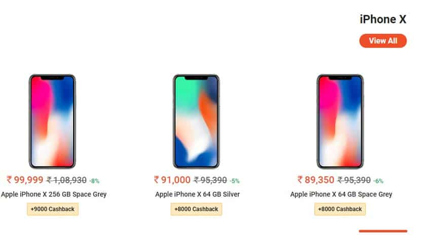 best sneakers e1cad 48a22 Paytm Mall sale offer: Apple iPhone X, iPhone XS, iPhone XS Max ...