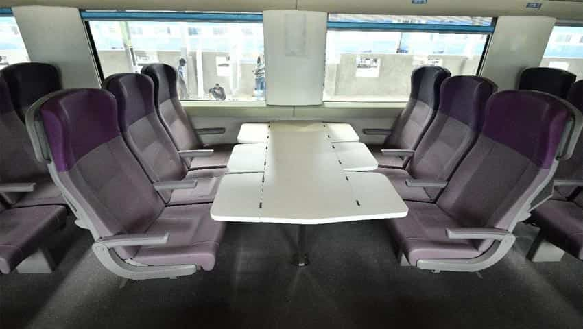Train 18: First Front Facing Six Seater Arrangement