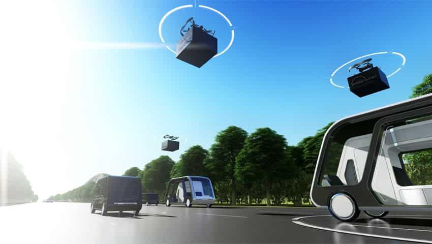 Autonomous Travel Suite: Room service by drones
