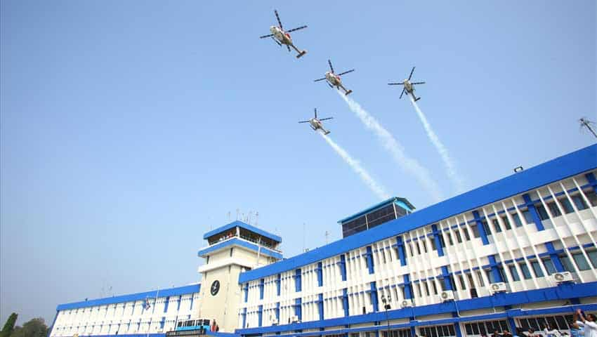 Indian Air Force Combined Graduation Parade: Sarang helicoptres