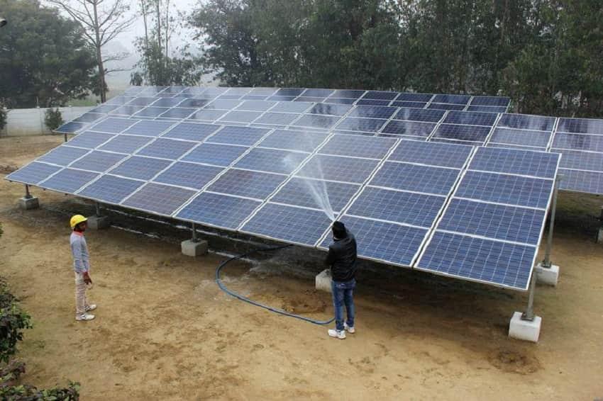Solar energy capacity in India