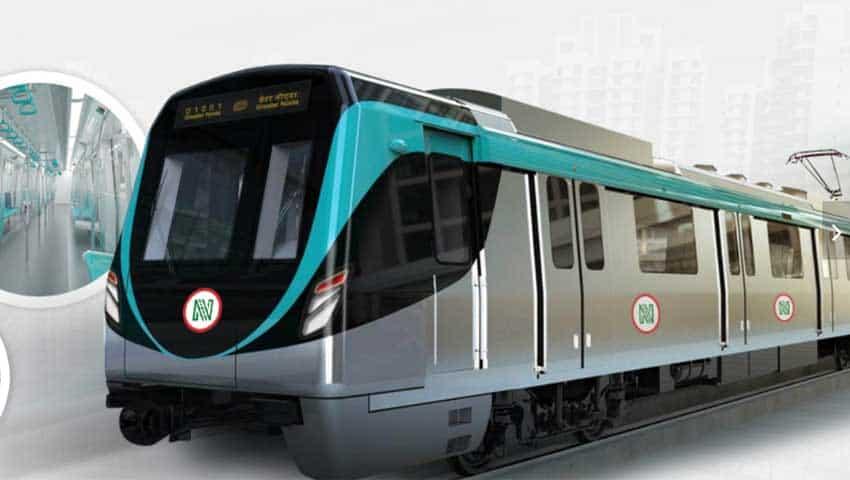 Noida-Greater Noida Aqua Line Metro rake