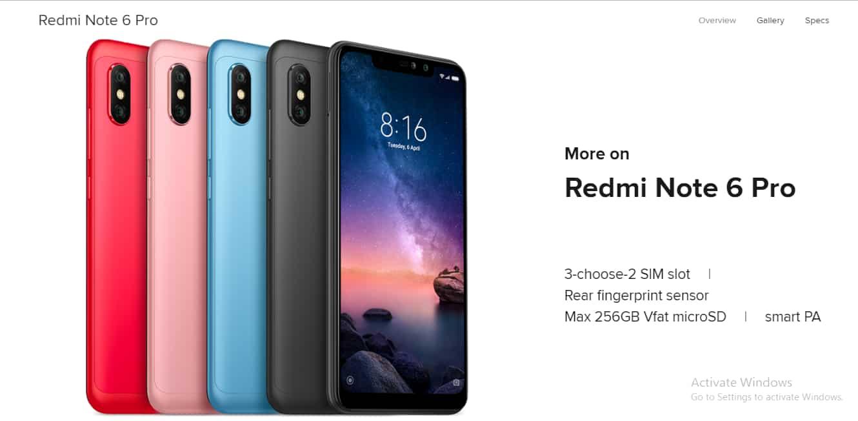 Redmi Note 6 Pro (Black 64 GB)