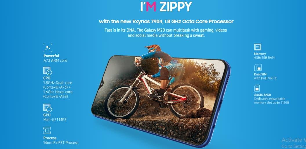 Samsung Galaxy M20 Processor
