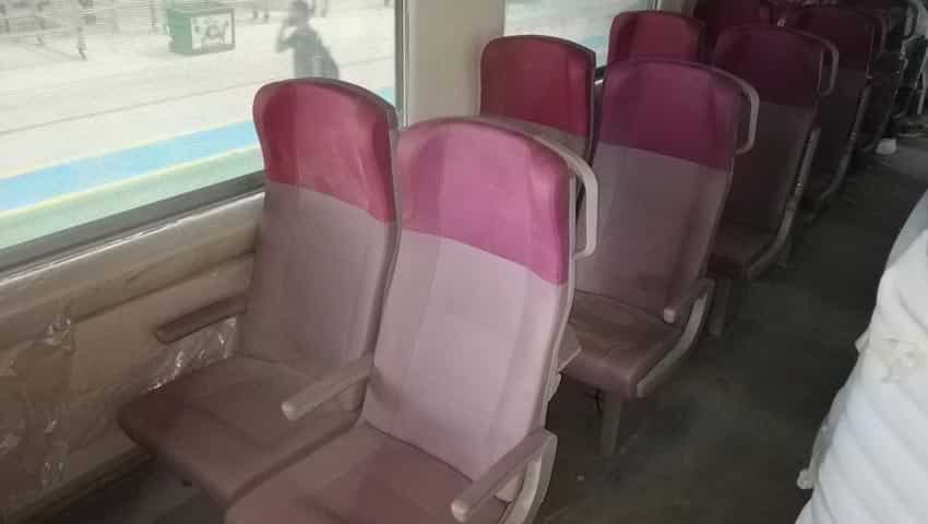 Train 18: Chair car ticket booking