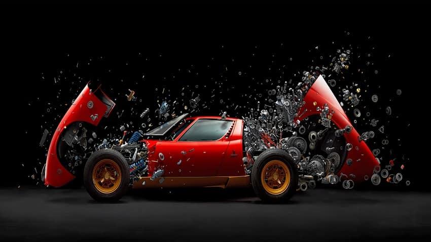 Exploding Lamborghini  Miura SV: Meet the creator - Fabian Oefner