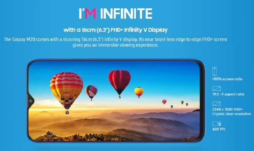 5. Samsung Galaxy M20: