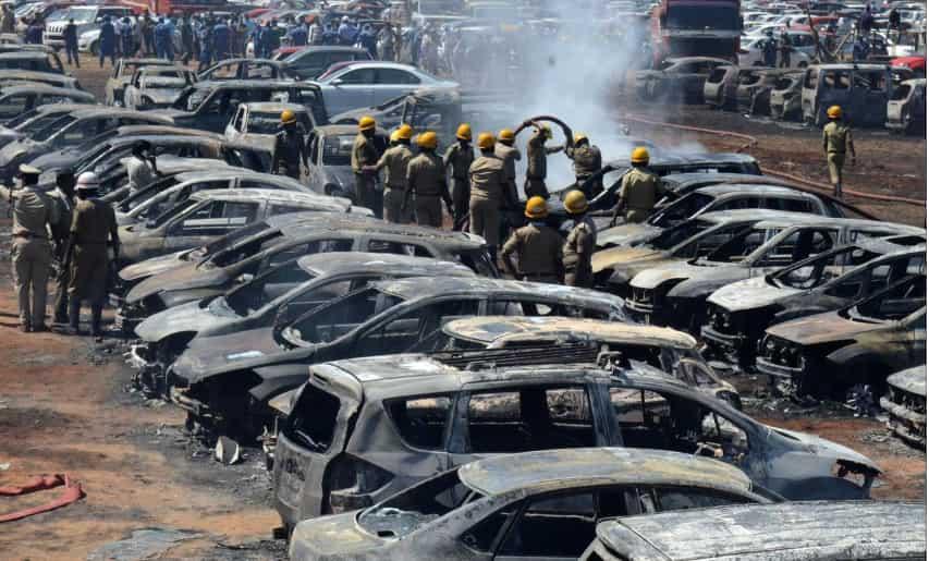 Fire at Yelahanka Air Base