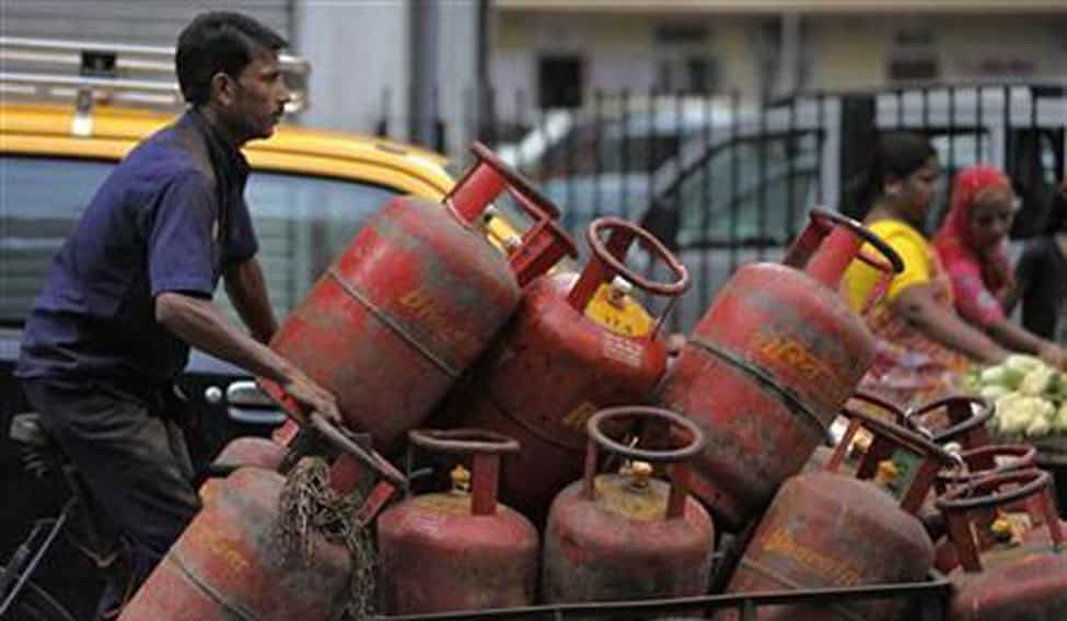 LPG gas price for non-subsidised cylinder