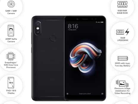 3. Mi Note 5 Pro for INR 16,999 INR 11,900 available on EMI starting INR 2,000 per month