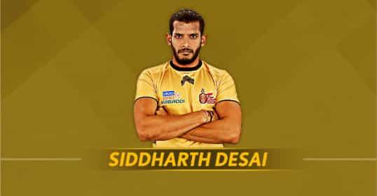 1. Siddharth Desai (Rs 1.45 crore, Telugu Titans) -