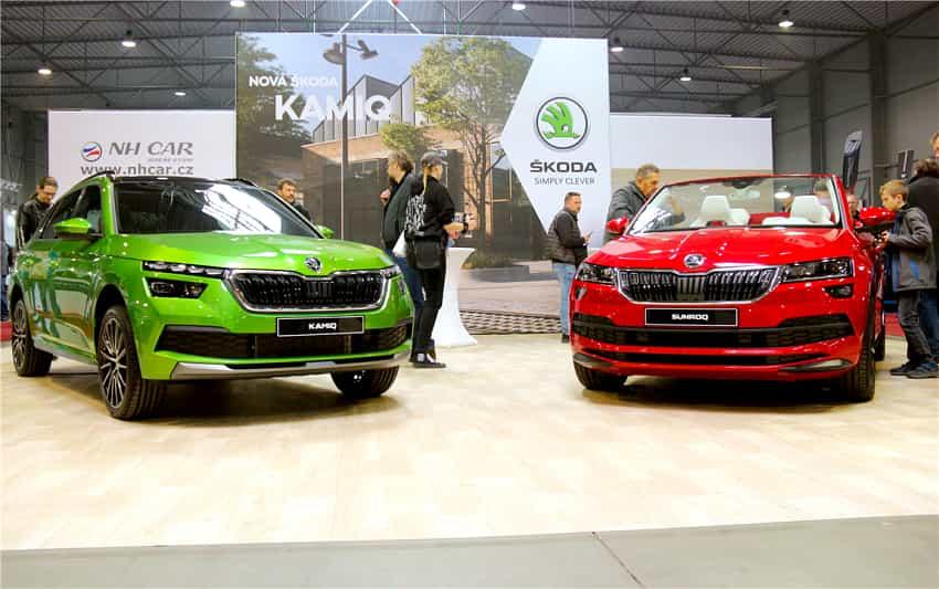 Skoda Kamiq and Sunroq at Autoshow Prague