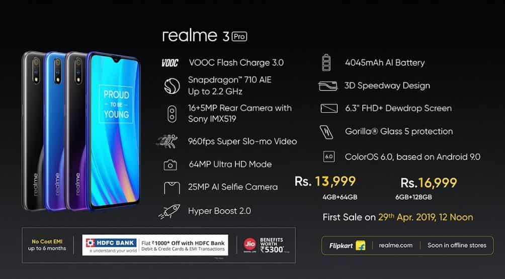 Realme 3 pro features