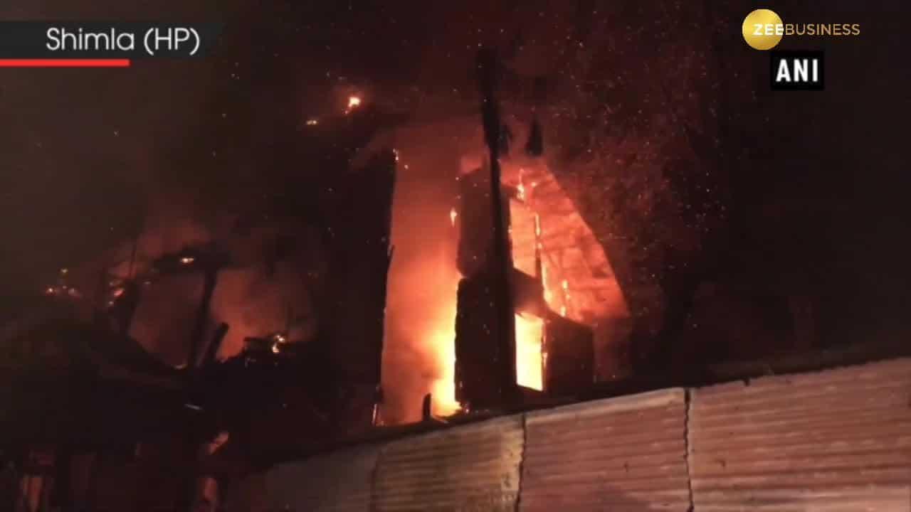 Fire breaks out at Grand Hotel in Shimla, 5 fire tenders on spot