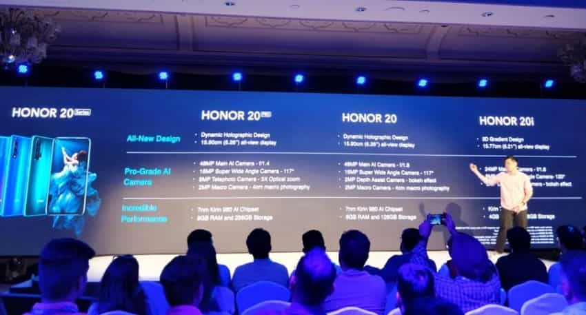Honor 20 pro, 20 and 20i performance: