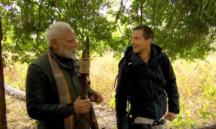 What is so special about Modi in Man vs Wild episode