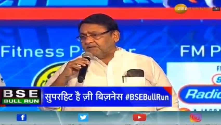 Maharashtra Cabinet Ministers Nawab Malik at Zee Business BSE Bull Run