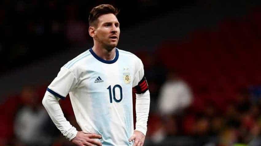 Lionel Messi follows Cristiano Ronaldo