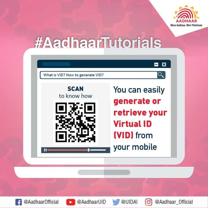 Generate your Virtual ID or VID