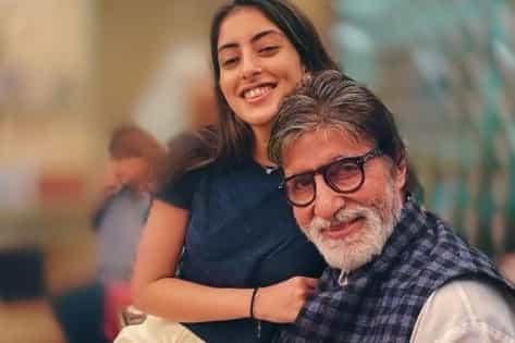 Navya Naveli  with Amitabh Bachchan