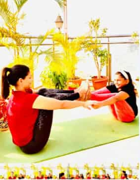 A pose that builds trust on the opposite person, at the same time helps you focus on your own balance and strength
