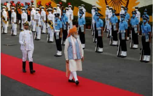 PM Narendra Modi inspects Guard of Honour