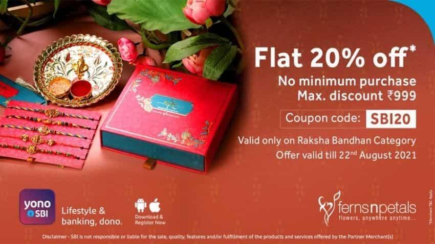 Flat discount of 20 per cent from Ferns n Petals