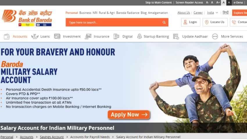BOB military salary account: Benefits