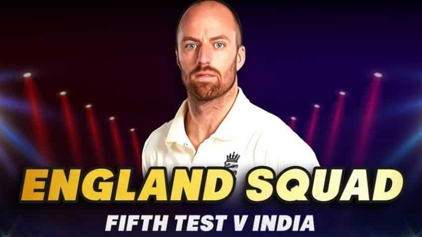 India vs England 5th test: England's squad