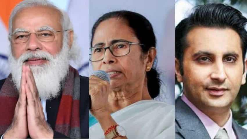PM Modi, Mamata Banerjee and Adar Poonawalla