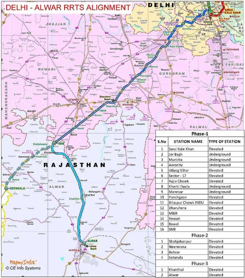 Meerut India Map.Delhi Alwar Rrts Good News Delhi Gurugram Shahjahanpur Neemrana