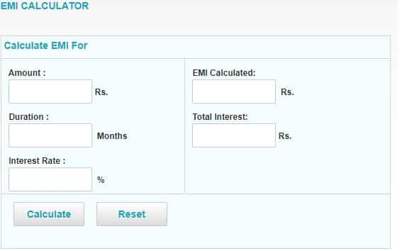 SBI EMI calculator
