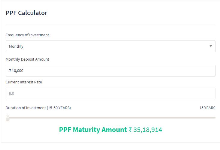 Ppf calculator ppf interest, return calculator.