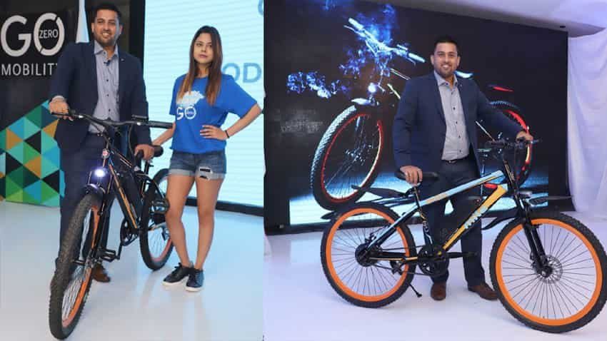 fc74fb3680f (PIC: GoZero Mobility CEO Ankit Kumar with the newly launched electric bikes).  Bicycle industry in India