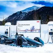 ABB at WEF Davos powers first electric shuttle, brings Formula E racing car to Swiss mountains