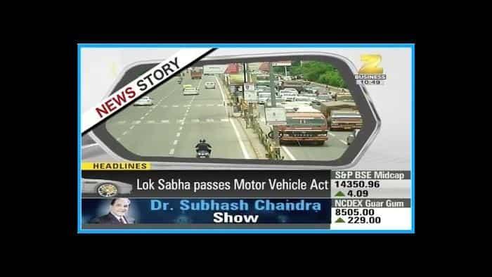 Zeegnition : Lok Sabha passes 'Motor Vehicle Amendment Bill'