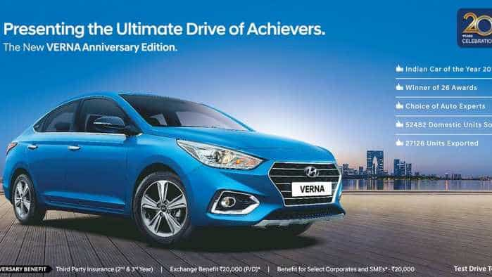 Hyundai Verna anniversary edition launched; check price, specs