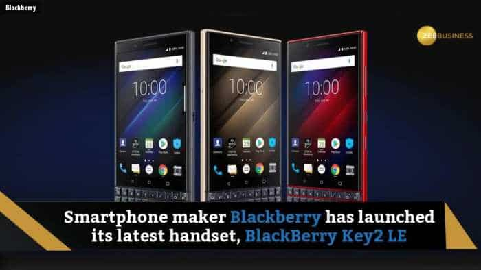 The new Blackberry Key2 LE launched in India at Rs 29,990; check out for more details