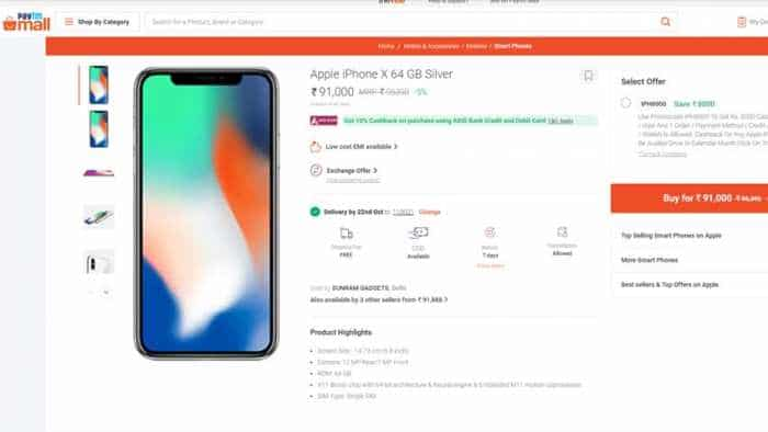 Paytm Mall sale offer: Apple iPhone X, iPhone XS, iPhone XS Max prices cut