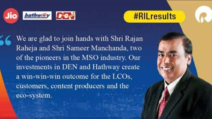 For Rs 5,230 cr, Mukesh Ambani led Reliance Industries to buy Den Networks, Hathway Cable