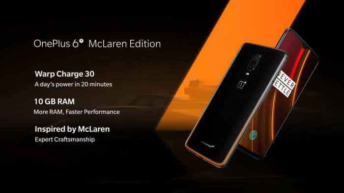 OnePlus 6T McLaren Edition with 10GB RAM launched
