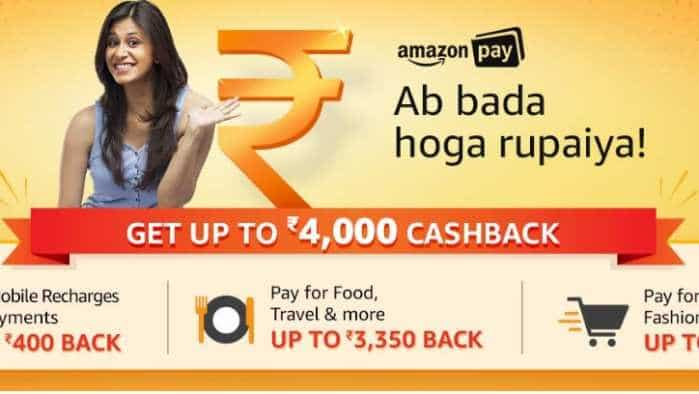 Amazon Pay offer: Get up to Rs 4000 cashback on shopping, mobile recharge, bill payment, food, movie tickets