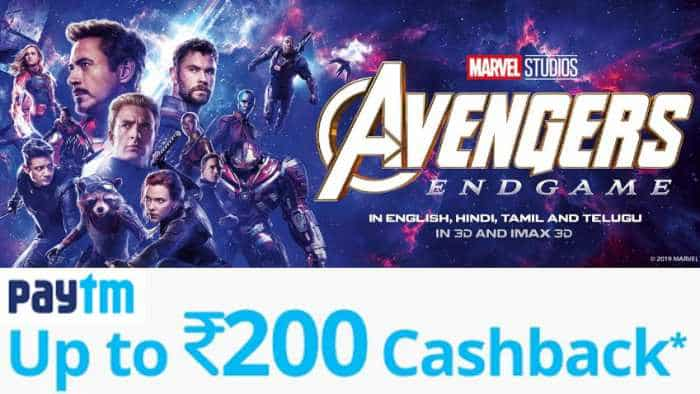Avengers: Endgame Tickets Paytm Offer Advance Booking: Up to Rs 200 cashback - Here is CODE
