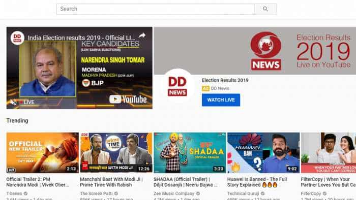 Prasar Bharati joins hands with Google for Lok Sabha election 2019 results live streaming